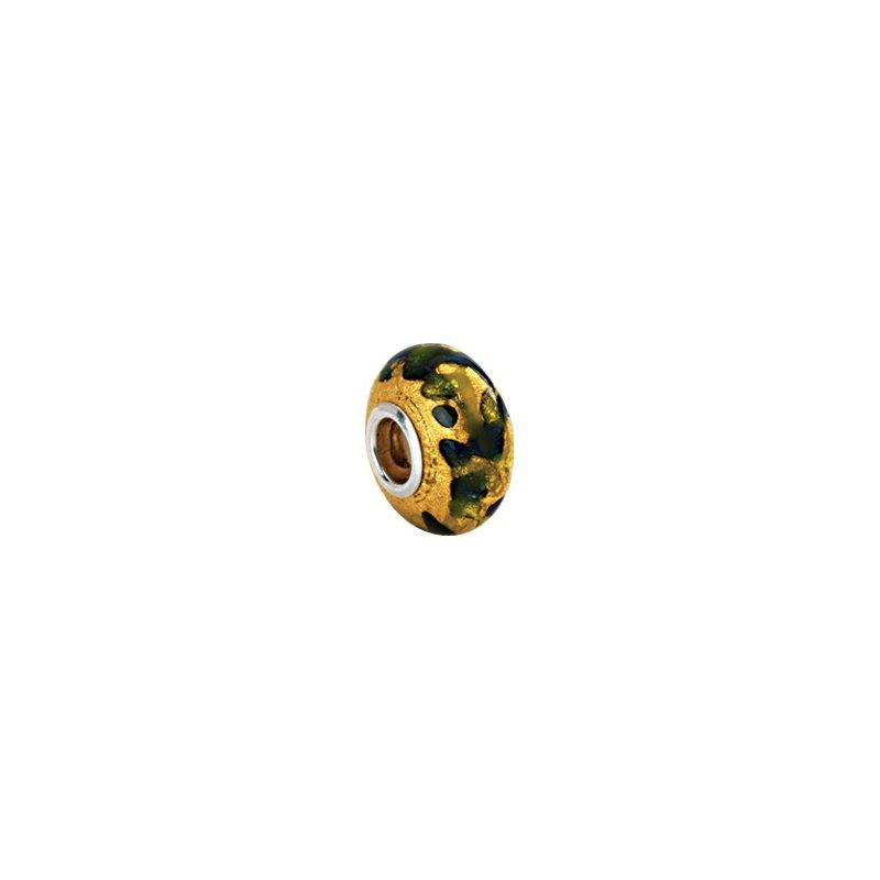 Holiday Ideas Kera Gold, Green & Blue Murano Glass Bead