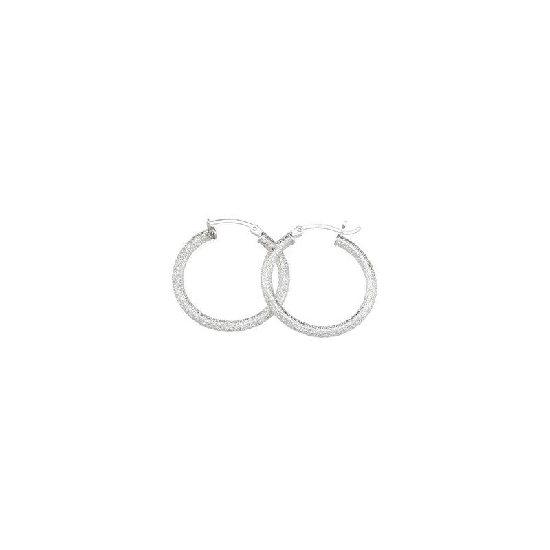 Ladies' Jewelry Sparkle Hoop Earrings