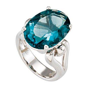 Genuine Flourite Quartz Ring