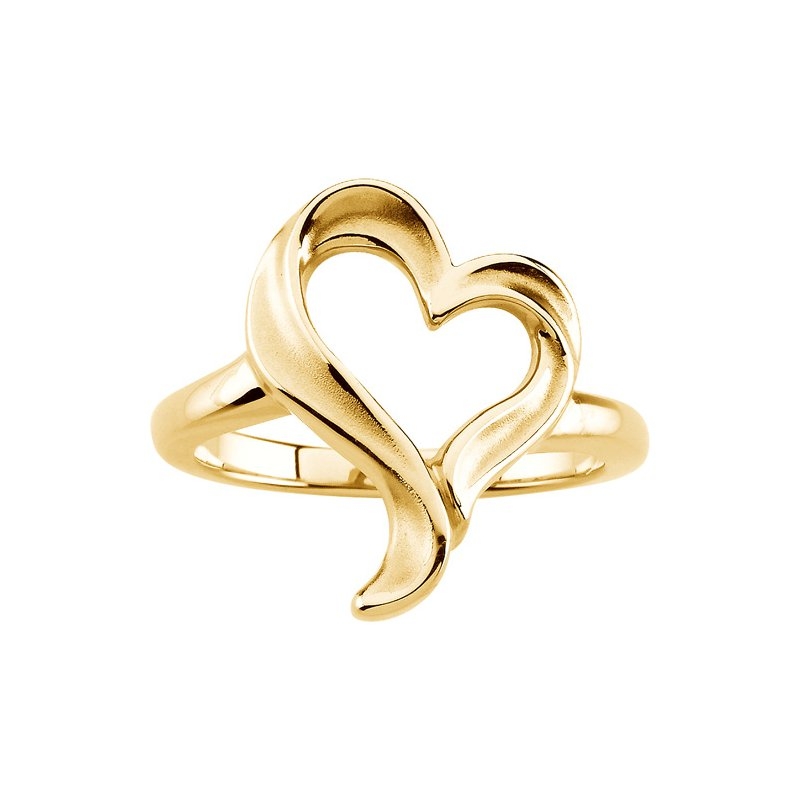 Ladies' Jewelry Gold Heart Ring