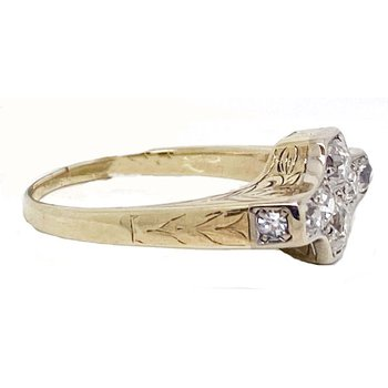Diamond and Yellow Gold, Vintage Style Ring