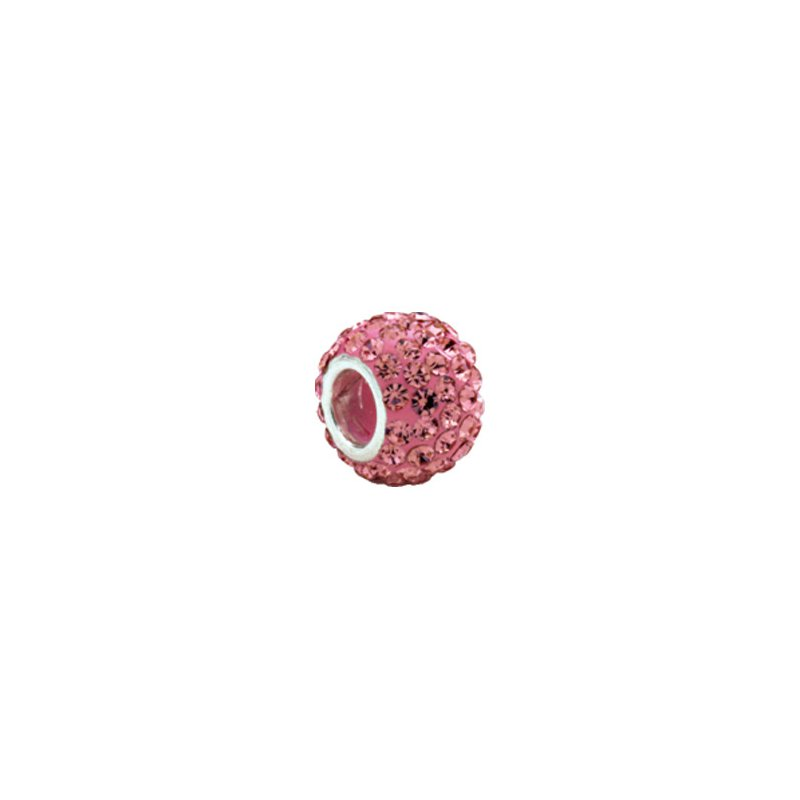 Holiday Ideas Kera Roundel Bead with Pave' Rose Crystals