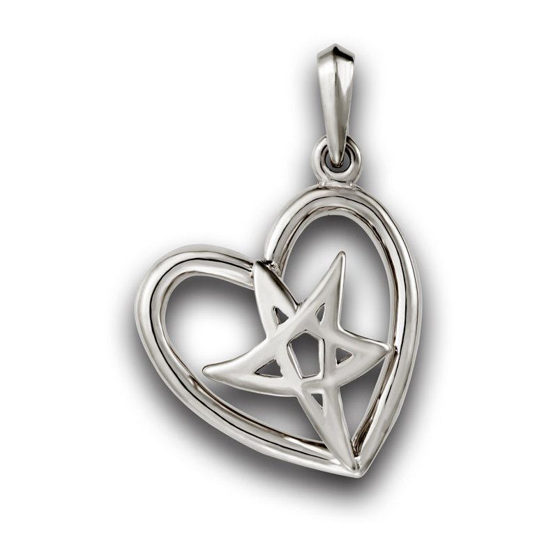 El Paso Star and Gifts Heartbeat of El Paso Collection: El Paso Star® and Heart Sterling Silver Pendant