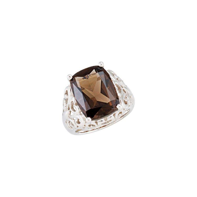 Holiday Ideas Genuine Smoky Quartz Ring