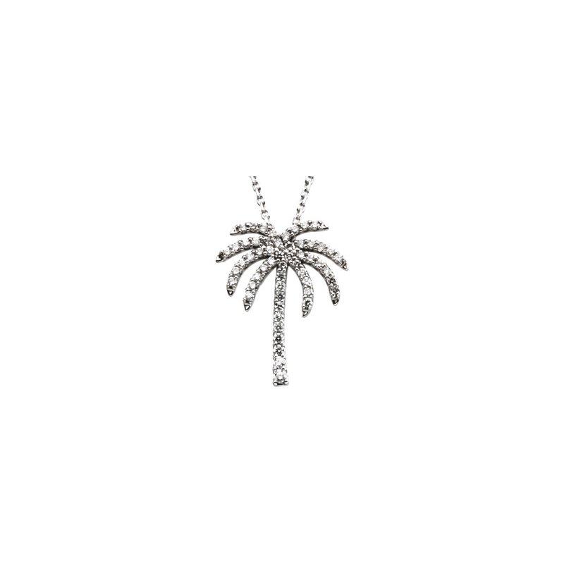 Ladies' Jewelry Diamond Palm Tree Necklace
