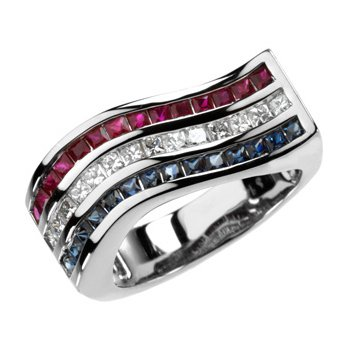 Multicolor Gemstone & Diamond Ring