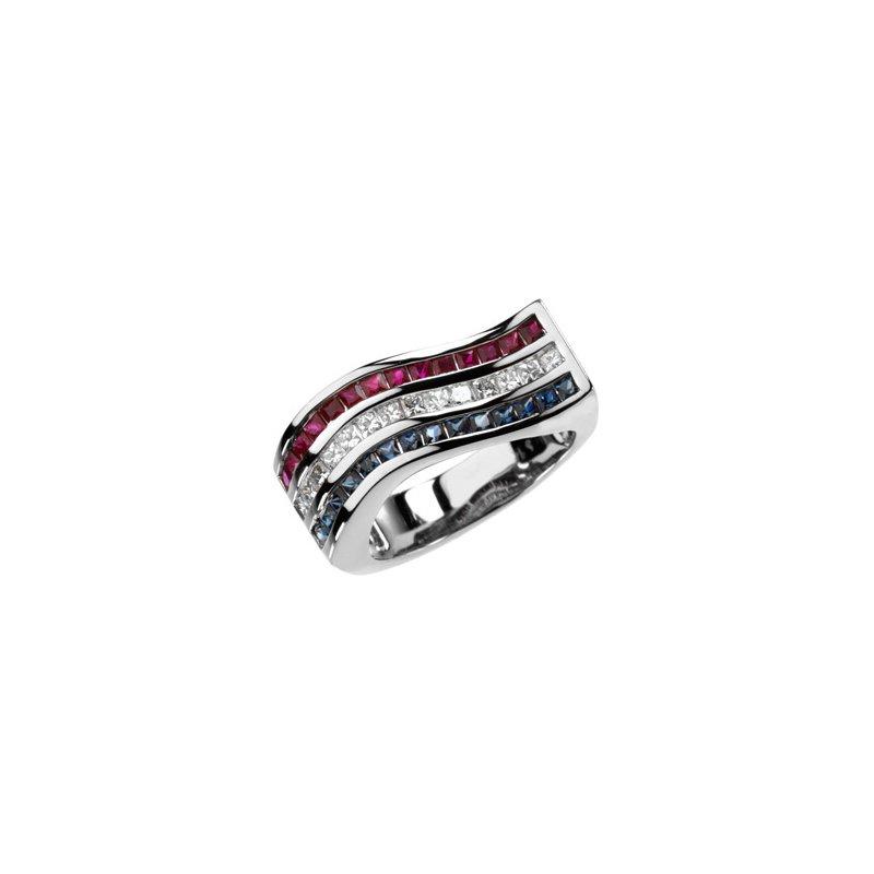 Holiday Ideas Multicolor Gemstone & Diamond Ring