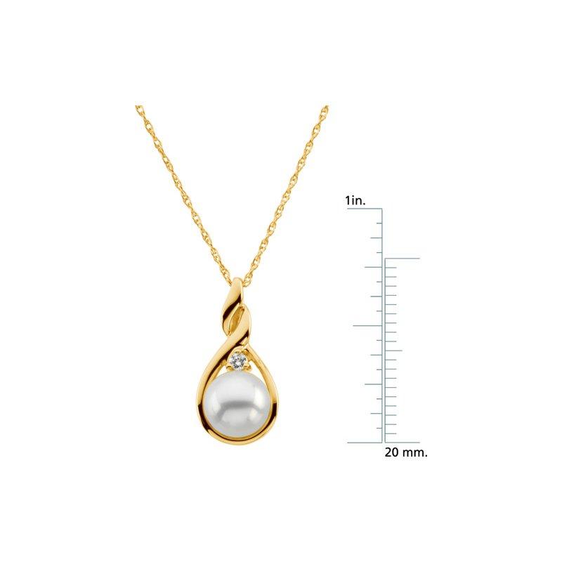 Ladies' Jewelry Akoya Cultured Pearl & Diamond Necklace