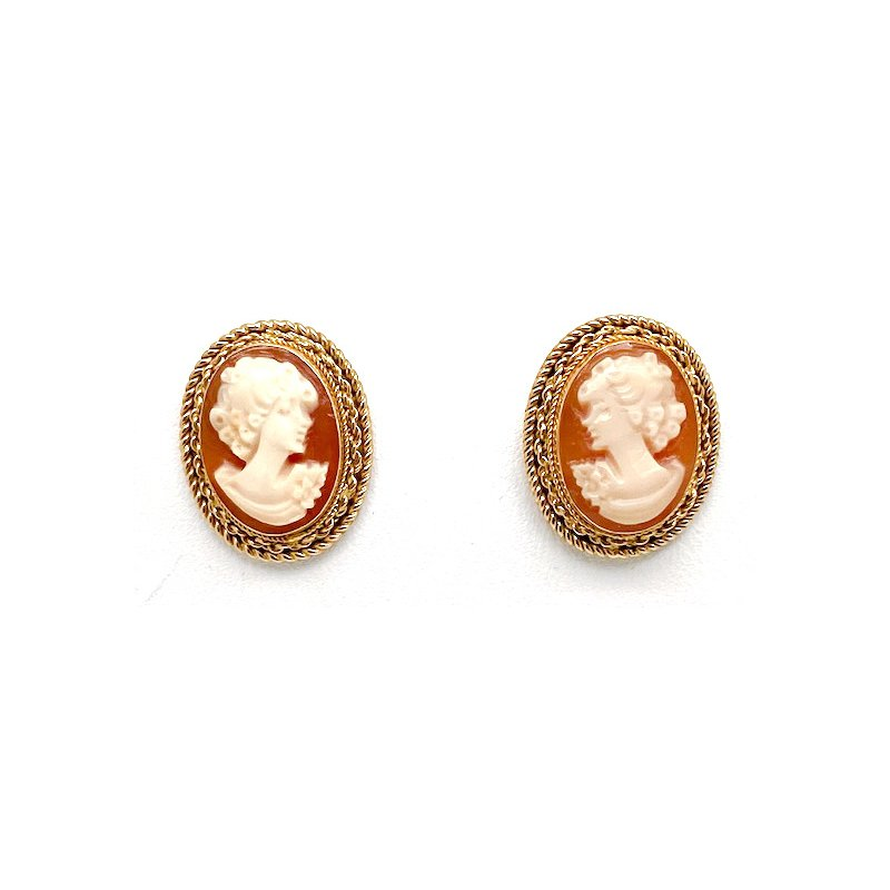 Estate & Vintage Lady's vintage cameo earrings