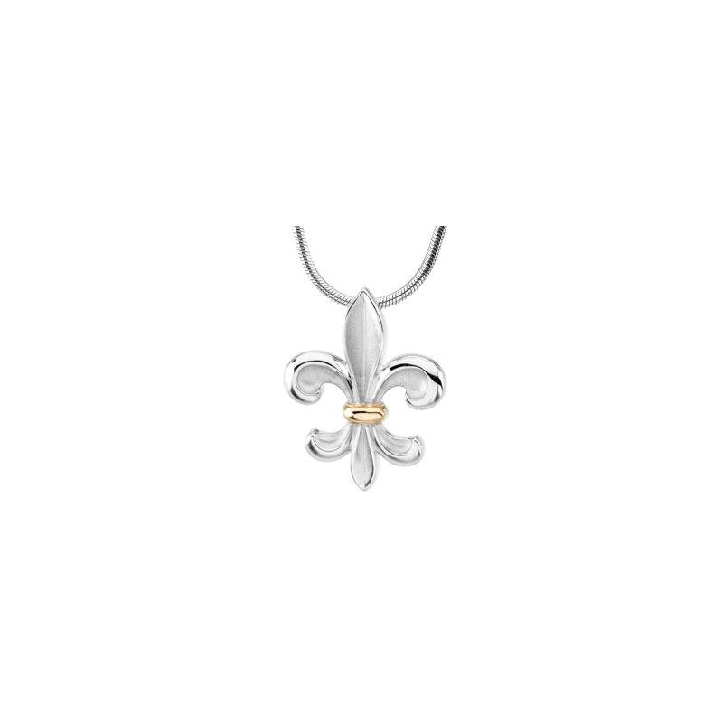 Ladies' Jewelry Fleur-de-Lis Necklace
