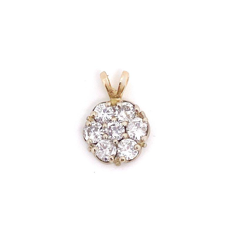 Estate & Vintage Lady's vintage diamond and yellow cluster pendant