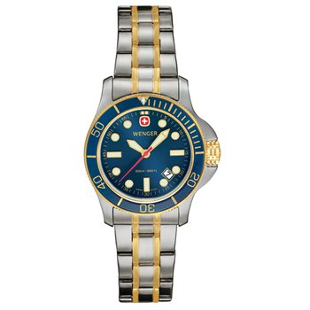 Wenger Ladies Two Tone Batallion III Diver Watch