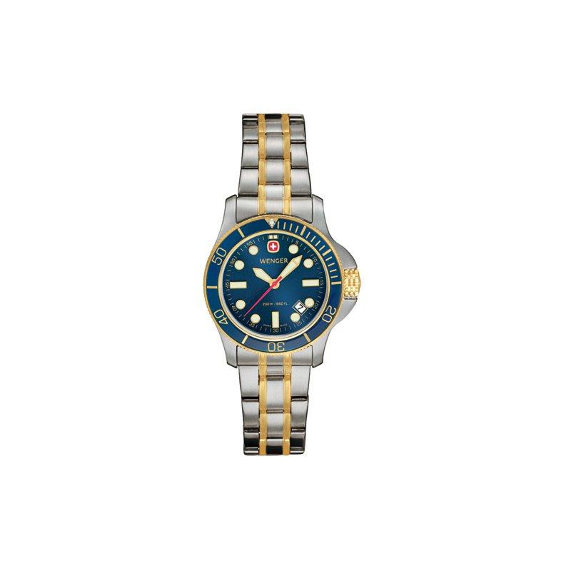 Eisen Watches Wenger Ladies Two Tone Batallion III Diver Watch