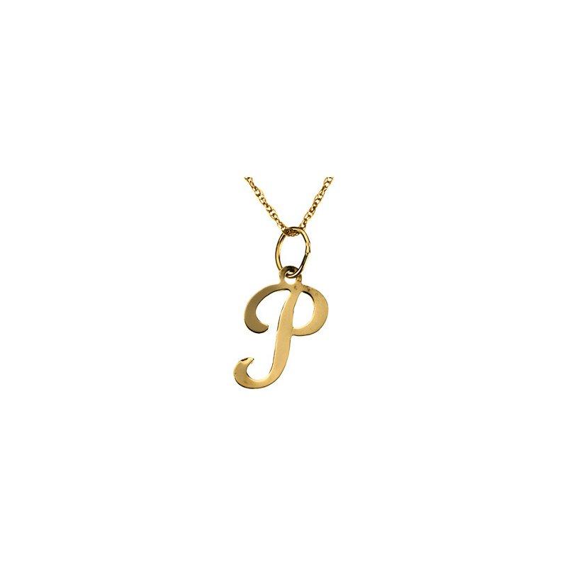 "Ladies' Jewelry Initial ""P"" Necklace"