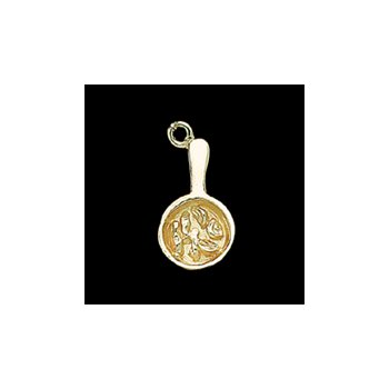 "The Heartbeat of El Paso Gift Collection: ""Mexican Food Capital of the World®"" Fajita Charm in 14K Gold"