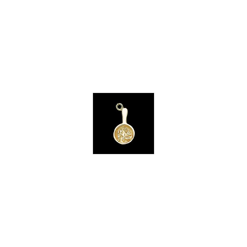 """El Paso Star and Gifts The Heartbeat of El Paso Gift Collection: """"Mexican Food Capital of the World®"""" Fajita Charm in 14K Gold"""