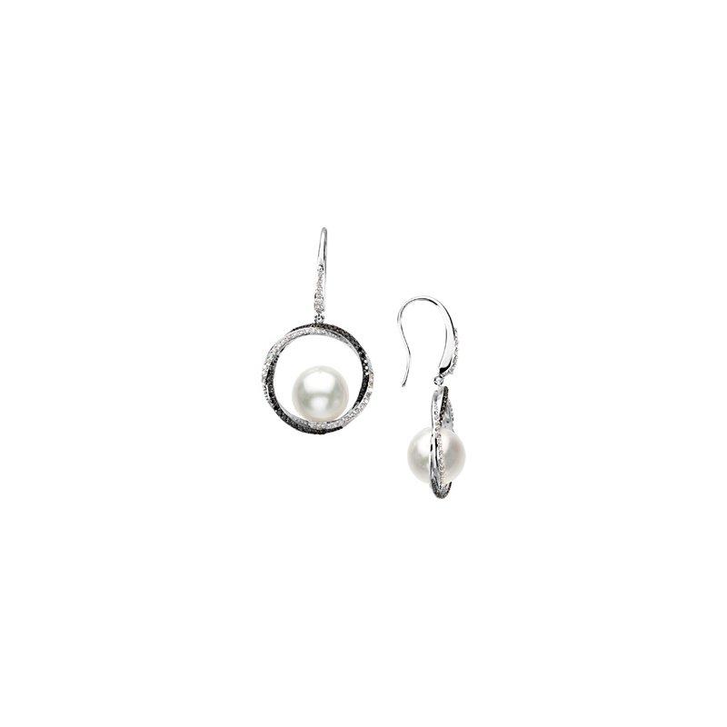 Ladies' Jewelry South Sea Cultured Pearl & Diamond Earrings
