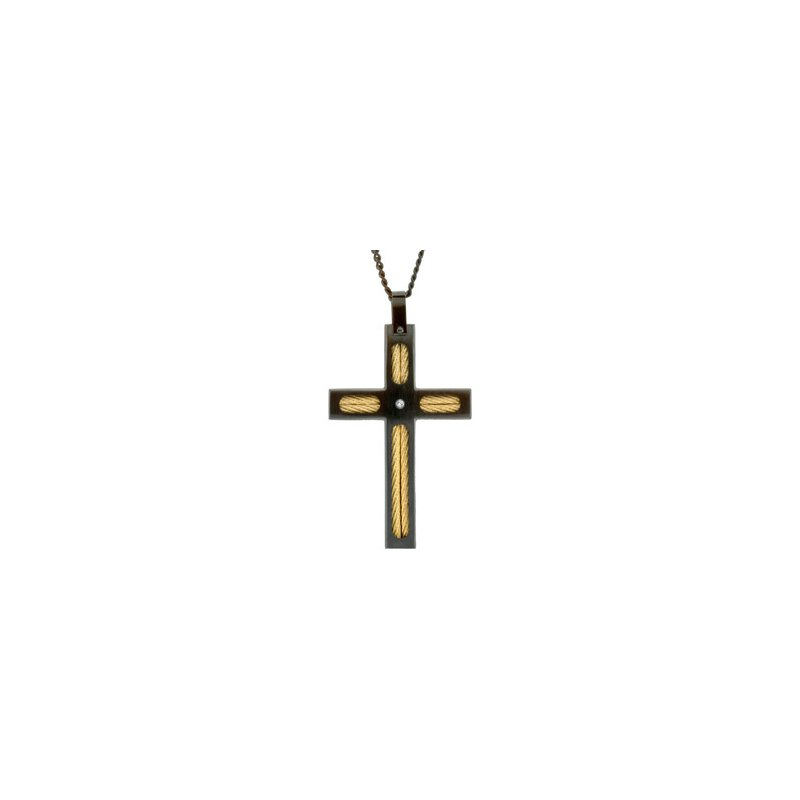 Religious Jewelry Cable Cross Necklace