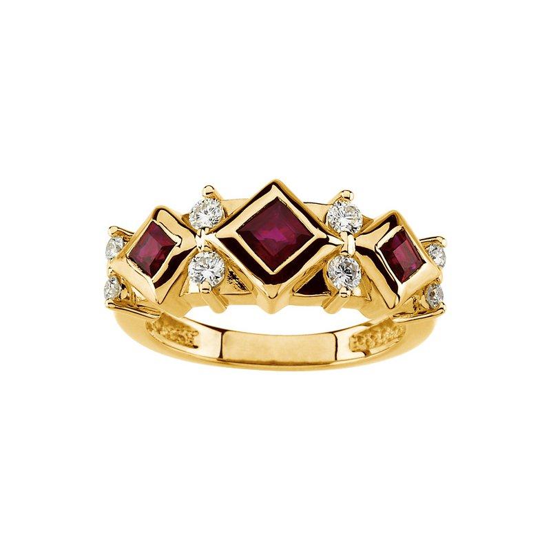 Susan Eisen Ruby & Diamond Ring