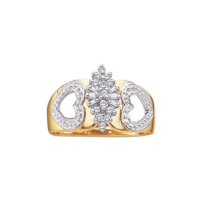 Valentine Gift Ideas Diamond Cluster Heart  Ring