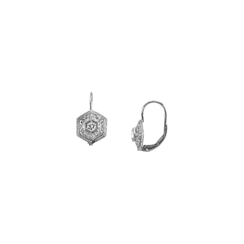 Ladies' Jewelry Platinum Diamond Earrings