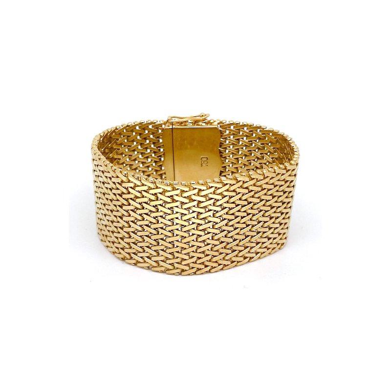 Estate & Vintage Vintage yellow gold, wide mesh, bracelet