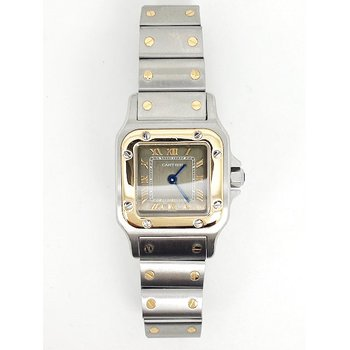 Lady's 18K yellow gold and stainless steel Cartier watch