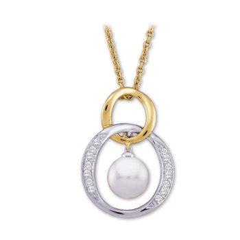 Akoya Cultured Pearl & Diamond Necklace