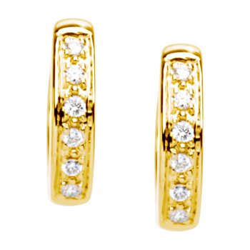Diamond Hinged Earrings