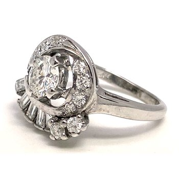 Vintage bridal, Retro design ring