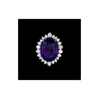 Ladies' Yellow Gold and Amethyst Ring