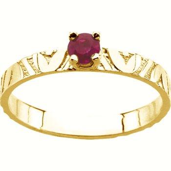 Children's Genuine Ruby July Birthstone Ring