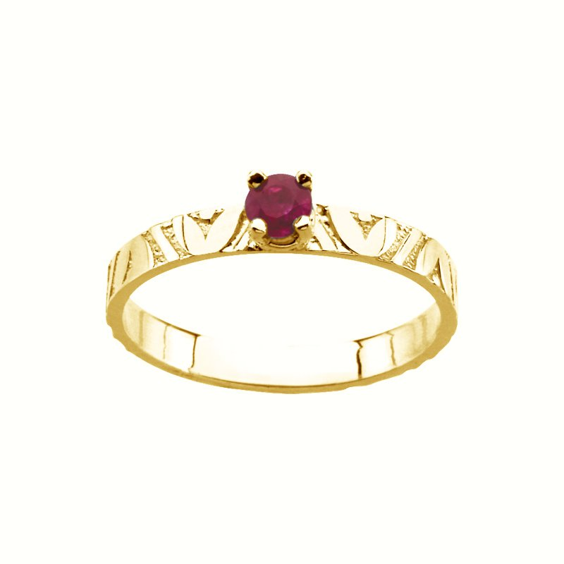 Birthstone Jewelry Children's Genuine Ruby July Birthstone Ring