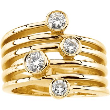 Moissanite Fashion Ring