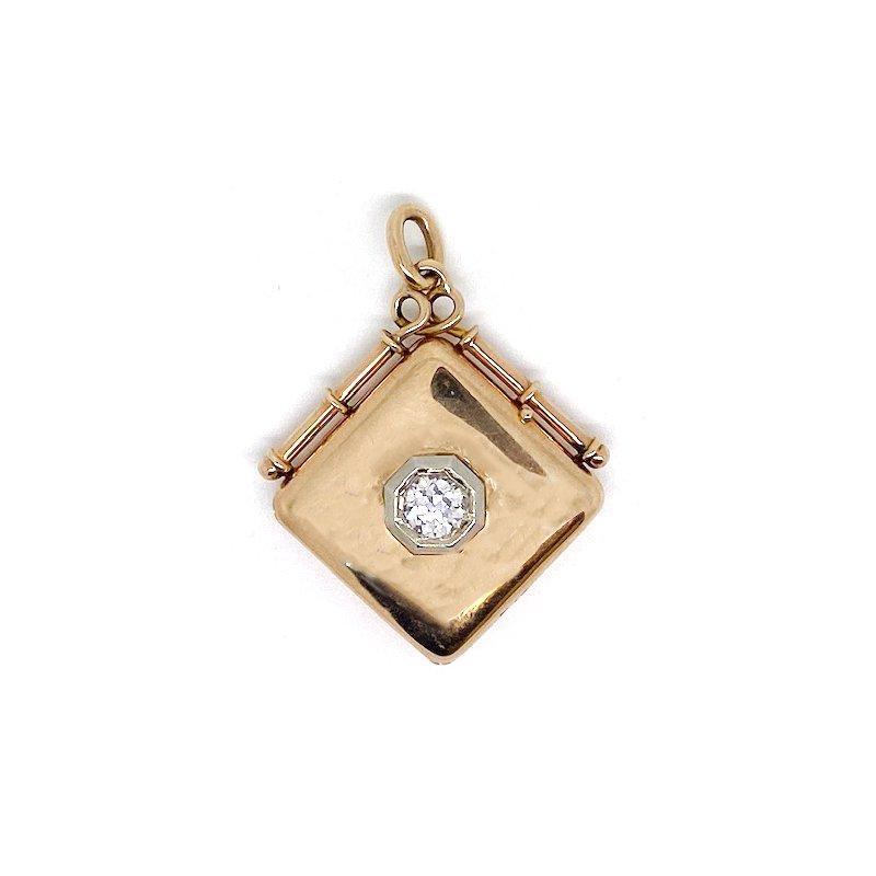 Estate & Vintage Vintage two-toned and diamond locket