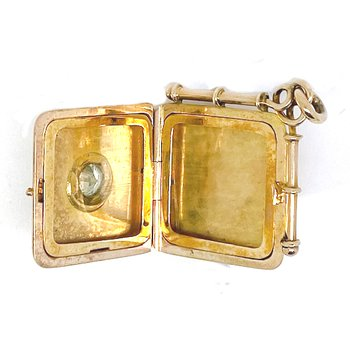 Vintage two-toned and diamond locket