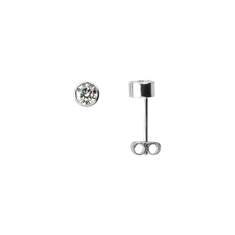 Ladies' Jewelry Platinum Diamond Solitaire Earrings