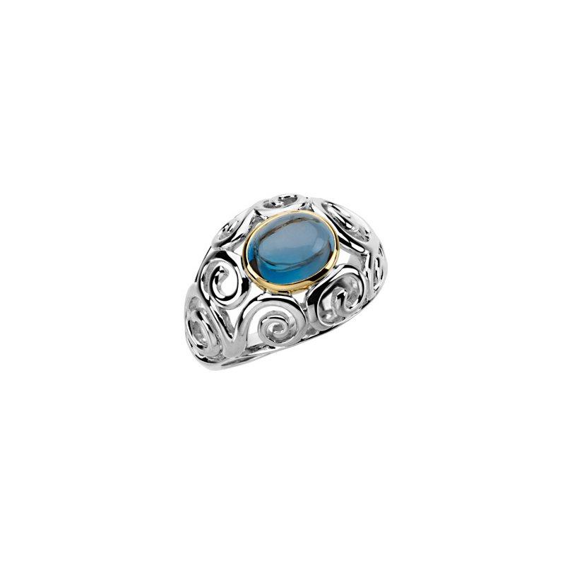 Ladies' Jewelry Genuine London Blue Topaz Ring