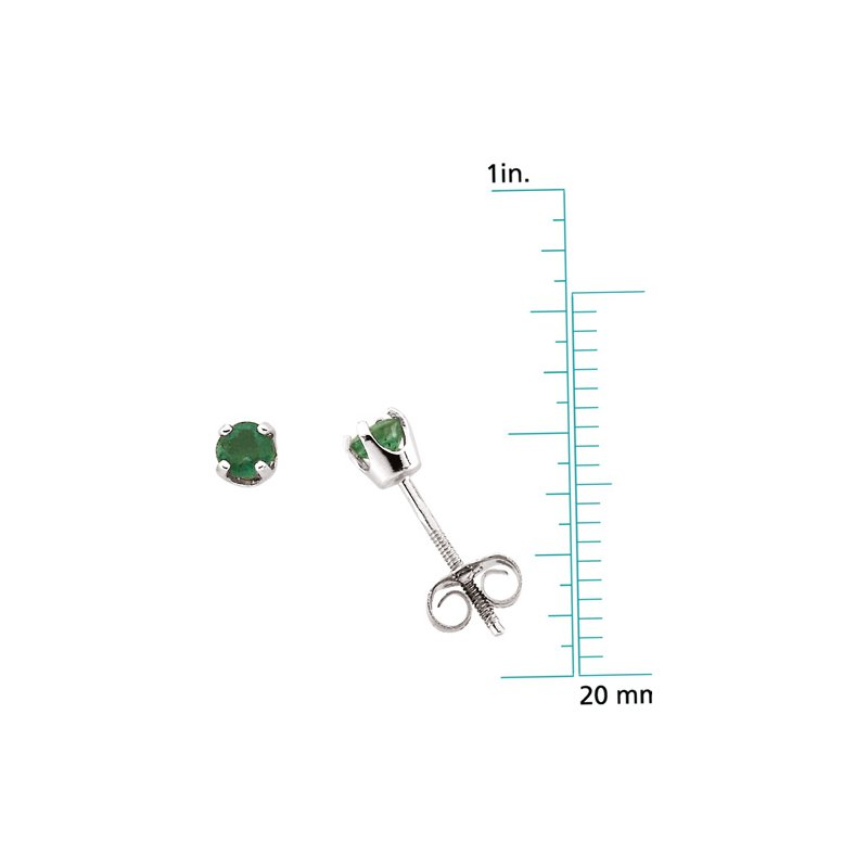 Birthstone Jewelry Children's Genuine Emerald May Birthstone Earrings
