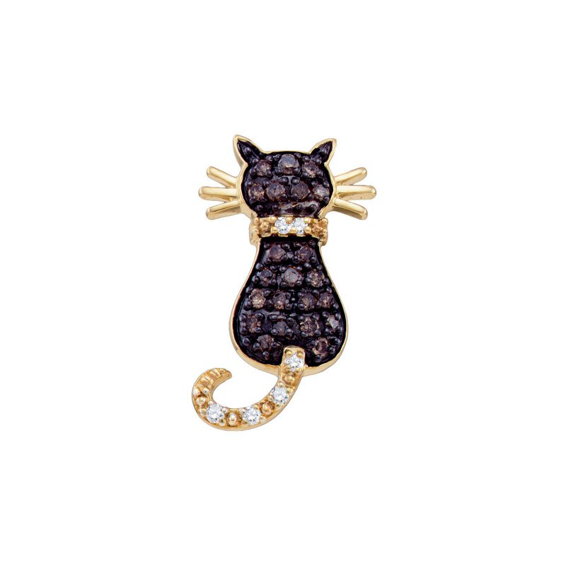 Valentine Gift Ideas Diamond Cat Pendant