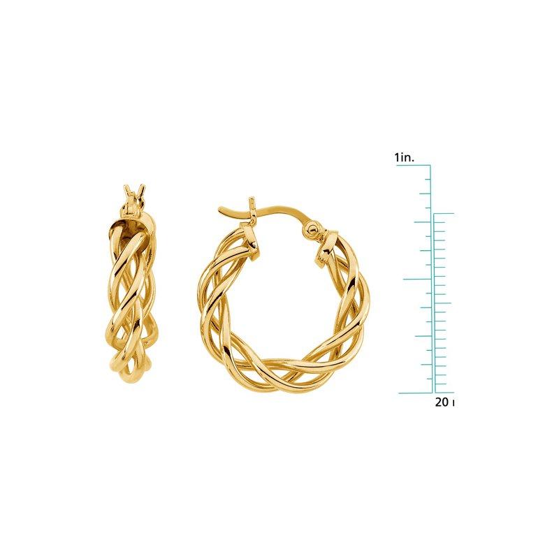 Ladies' Jewelry Braided Hoop Earrings