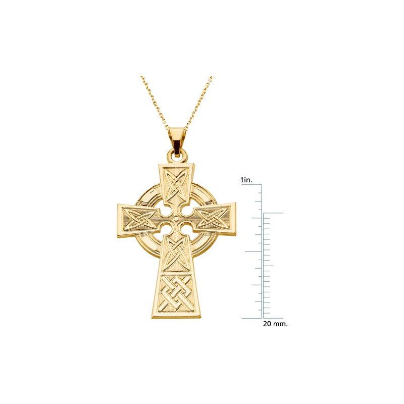 Religious Jewelry Celtic Cross Pendant Large