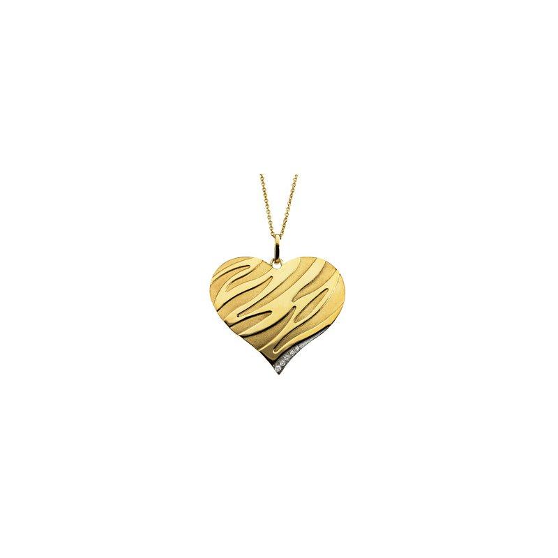 Holiday Ideas .04 ct tw Diamond Heart Necklace