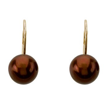 Freshwater Chocolate Pearl Earrings