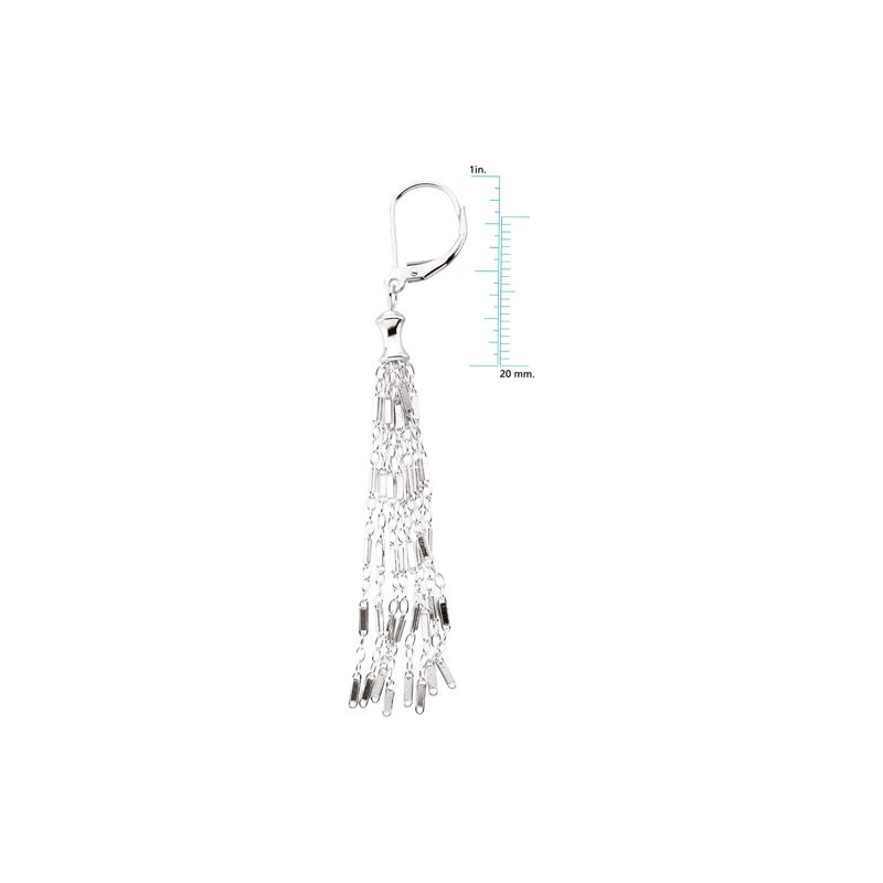 Ladies' Jewelry 8 Strand Bar Chain Earrings