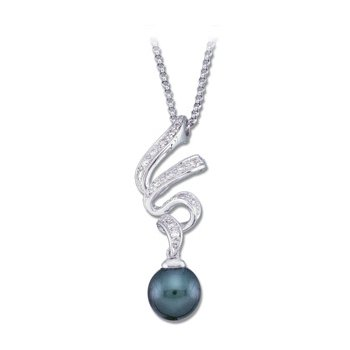 Akoya Cultured Pearl & Diamond Necklace