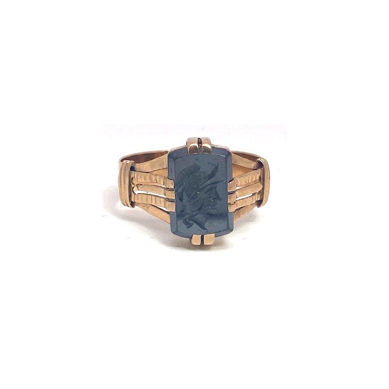 Estate & Vintage Vintage, hematite and rose gold ring