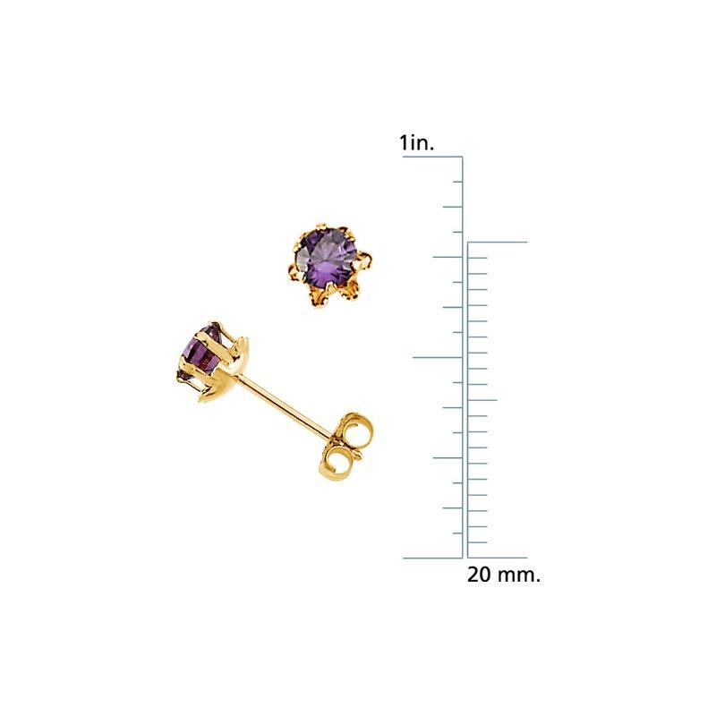 Birthstone Jewelry Teen February Birthstone Earrings