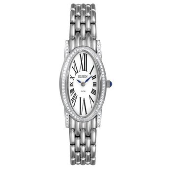 Eisen Lady's Stainless Steel Designer Quartz Wrist Watch