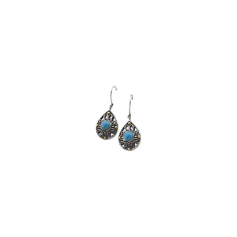 Ladies' Jewelry Genuine Turquoise Earrings